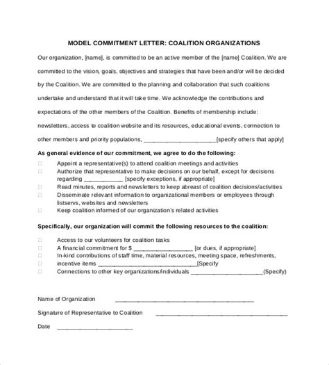 commitment letter sle commitment letter to employee 28 images how to write a letter