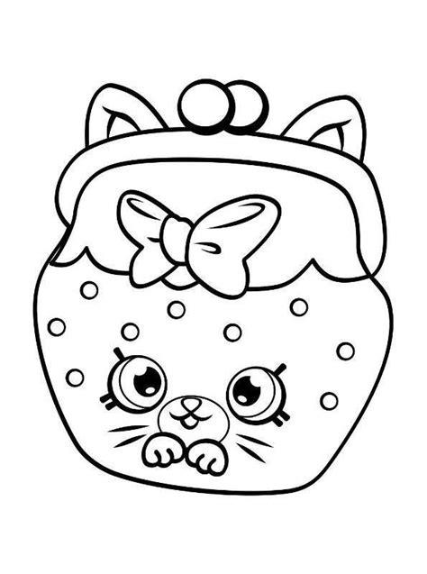 Kleurplaat Emoji Donut by N Kleurplaat Shopkins Shopkins 5