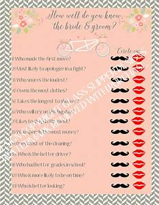 instant download printable bridal shower game couples With wedding shower games for bride and groom