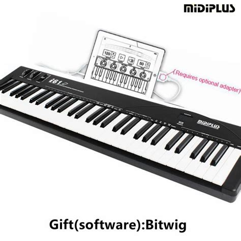 Midi For Pc by Midiplus I61 61 Key Usb Midi Keyboard For Pc Mac