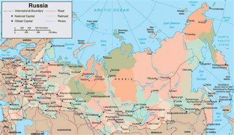 Russland Städte Karte