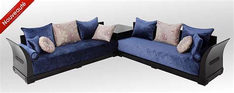 canape cuir bleu ciel salon moderne marocain richbond