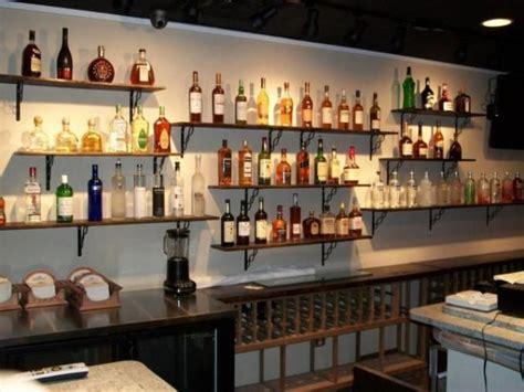 Bar Shelving Ideas by Shelves Bar For Bottles Glasses Basement Ideas