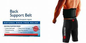 Double Pull Magnetic Lumbar Lower Back Support Belt Brace