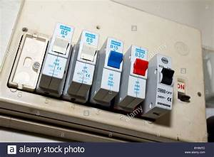 Uk  Old Electric Fuse Box In A London House Stock Photo