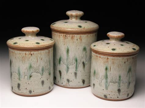 kitchen canisters ceramic sets pottery canister set wheel thrown pottery canisters ceramic
