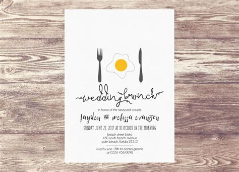 bridesmaid luncheon wording printed wedding brunch invitation newlywed brunch brunch