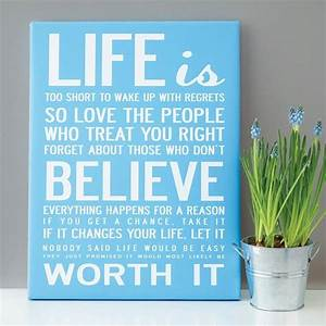 Canvas wall art with quotes quotesgram