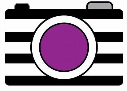 Camera Clipart Clip Purple Pink Cartoon Cameras