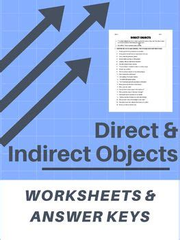 direct  indirect objects worksheets answer keys