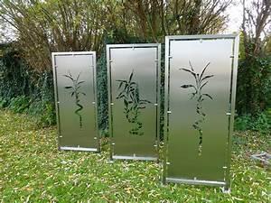 Terrasse Zaun Metall : hochwertiger sichtschutz aus edelstahl mit individueller gravur gel nder sichtschutz ~ Sanjose-hotels-ca.com Haus und Dekorationen
