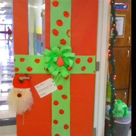 christmas classroom door decor or bulletin board wrapped