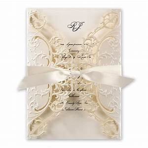 royal details laser cut invitation invitations by dawn With laser cut lace wedding invitations canada