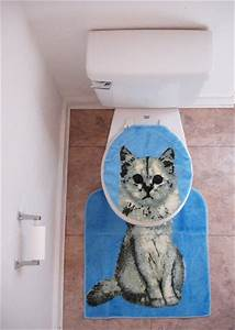 catsparella quirky vintage kitty cat bathroom set With cat bathroom set