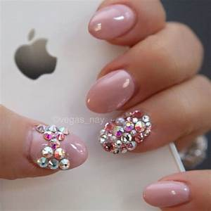 bling stiletto nails | pink silver rhinestone bow bling ...