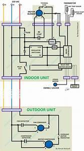 Wiring Diagram Ac Split Dan Komponen Kontrol