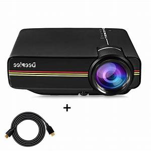 Projector Deeplee Mini Video Laptop 1500 Lumens Lcd