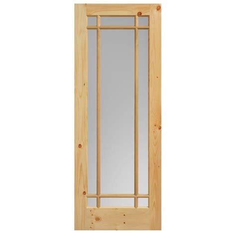 solid wood interior doors home depot masonite 30 in x 84 in prairie knotty pine veneer 9 lite