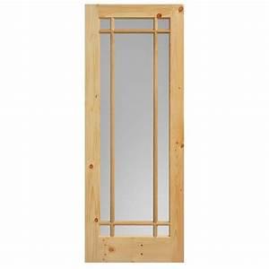 Masonite 40 in x 84 in cherry veneer 3 lite equal solid for 40 inch barn door