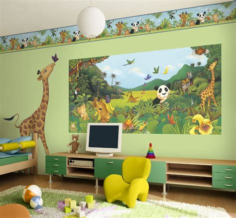 Jungle Animals Wall Stickers  Colorful Kids Rooms