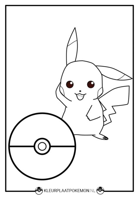 Picachu Kleurplaat by Pikachu Kleurplaat Downloaden Kleurplaat Pok 233 Mon