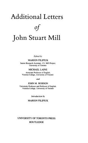 collected works  john stuart mill volume xxxii