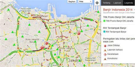 peta resmi google sajikan titik banjir jakarta kompascom