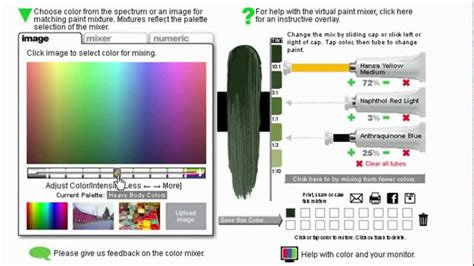 paint color mixing software colour mixing tool golden acrylic