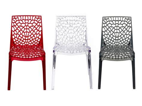 chaise en polycarbonate lot de 2 ou 6 chaises diademe polycarbonate 3 coloris