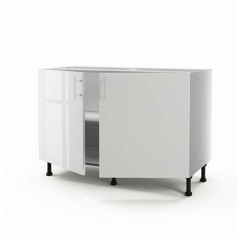 meuble cuisine leroy merlin blanc meuble de cuisine sous évier blanc 2 portes h 70 x l