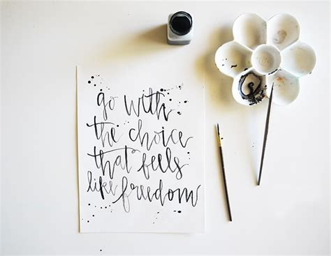 calligraphy prints projects melyssa griffin