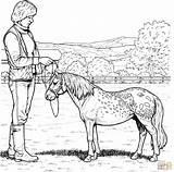 Pony Coloring Shetland Pages Horse Horses Printable Main Drawing Sheets Super Cute Paper Animal Para Kuc sketch template