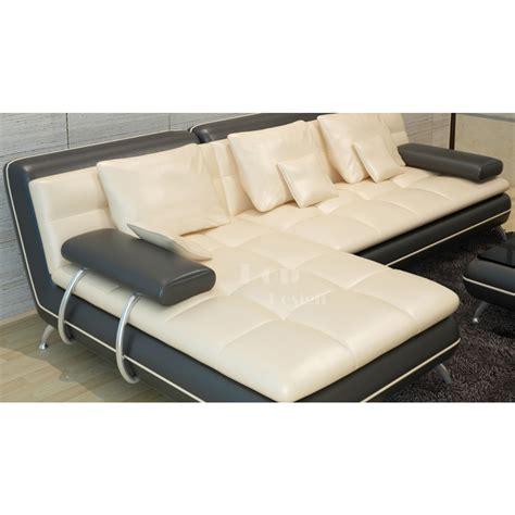 promotion canapé cuir canapé d 39 angle en cuir tolentino pouf pop design fr