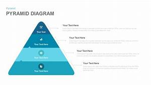 4 Stage Pyramid Diagram Template For Powerpoint And