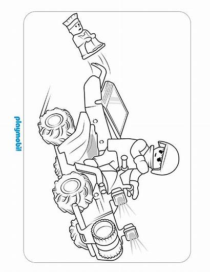 Playmobil Coloring Pages Police Action Sheet Printable