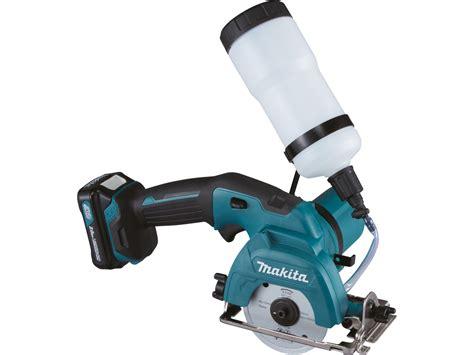 makita handheld tile saw makita cc301dwae 10 8v cxt 2x2 0ah 85mm tile cutter kit