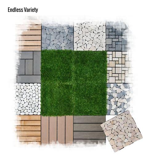 30x30 pebble interlocking diy garden deck click tile