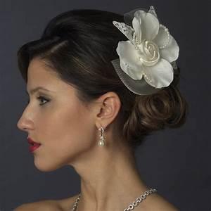 Chantal Lace Flower Hair Clip Elegant Bridal Hair