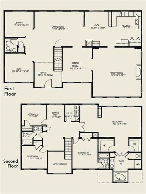 4 Bedroom House Plans 2 Story by Luxury 4 Bedroom 2 Story House Floor Plans New Home