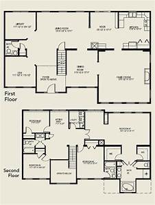 luxury 4 bedroom 2 story house floor plans new home With new home bedroom designs 2