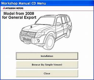 Mitsubishi Pajero 2008  Model For General Export  Workshop