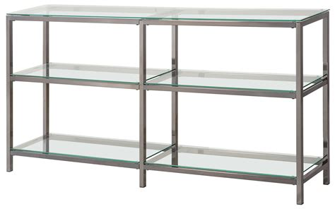 Bookcase With Glass Shelves by Bookcases Industrial Metal Bookcase Console With Glass