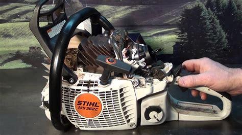chainsaw guy shop talk stihl ms    loose head