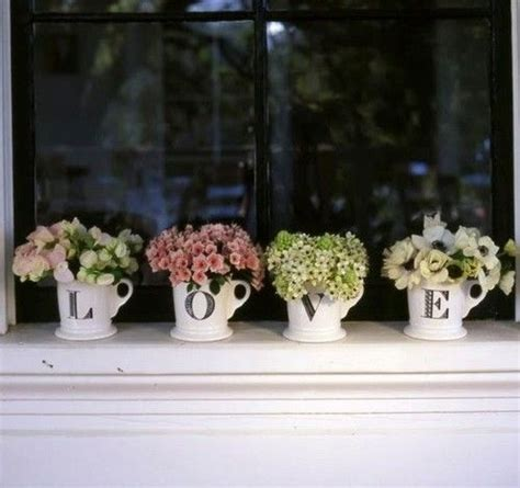 Window Seal Pots by Pretty And A Lovely Idea For Using Mugs I When I See