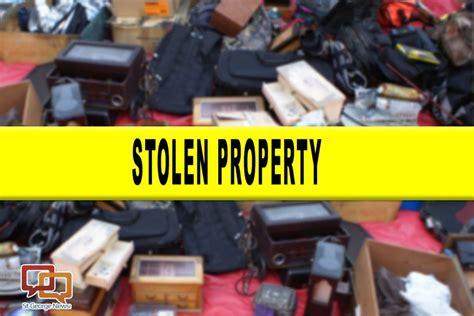 police seek  return stolen items  rightful owners st
