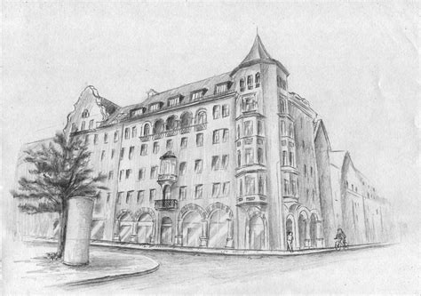 Häusserfassade, Haus, Gebäude, Altstadt Zeichnen