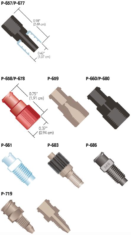 idex quick connect luer adapters chrom tech