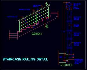 S S Staircase Railing Detail Plan n Design