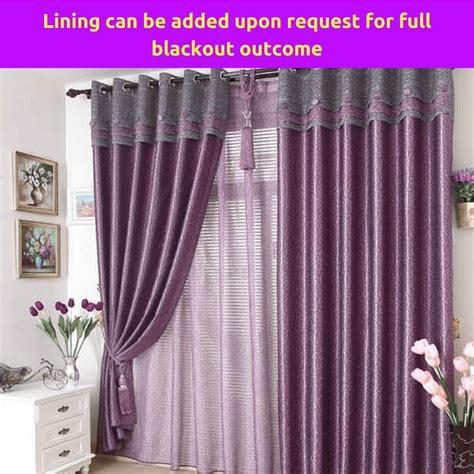 blockout purple valance door curtain design fabric drape