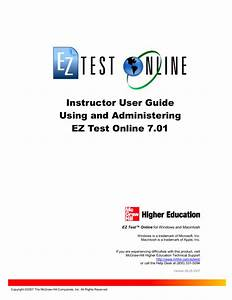 Ez Test Online User Guide